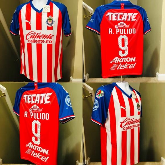 afe12f15912 Puma Shirts | A Pulido 9 Chivas Guadalajara Home Soccer Jersey ...